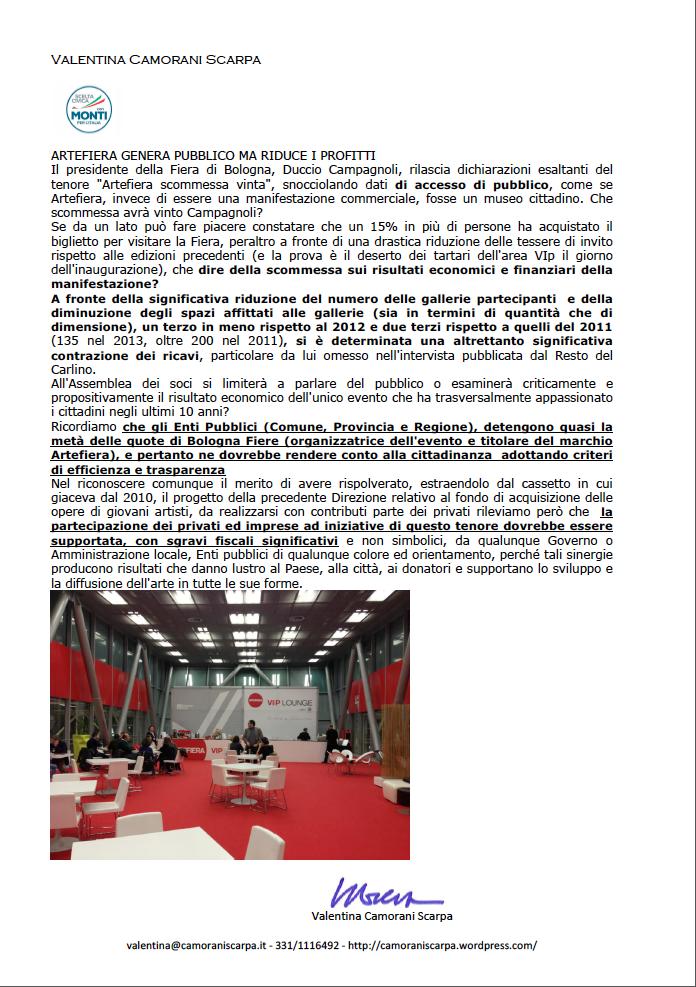 VCS scelta civica - Artefiera 2013